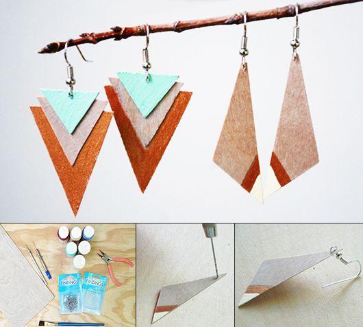 kreative basteliden für diy schmuck aus holz-basteln mit, Moderne