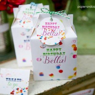 Confeti fiesta de cumpleaños para imprimir