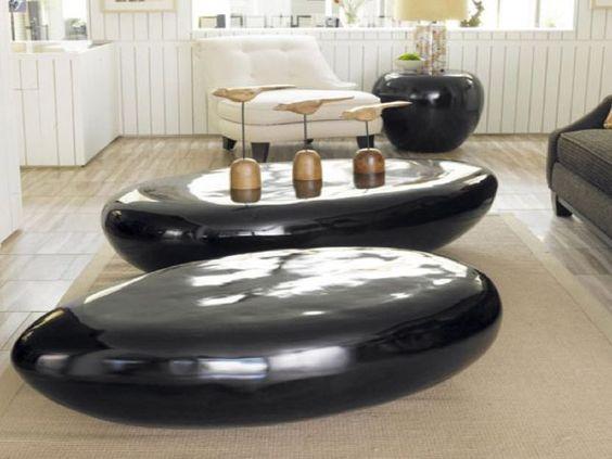 river stone coffe table on venturanaba com