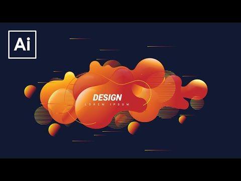 Create Shape Abstract Liquid Adobe Illustrator Tutorial Youtube Adobe Illustrator Design Illustrator Tutorials Adobe Illustrator Tutorials