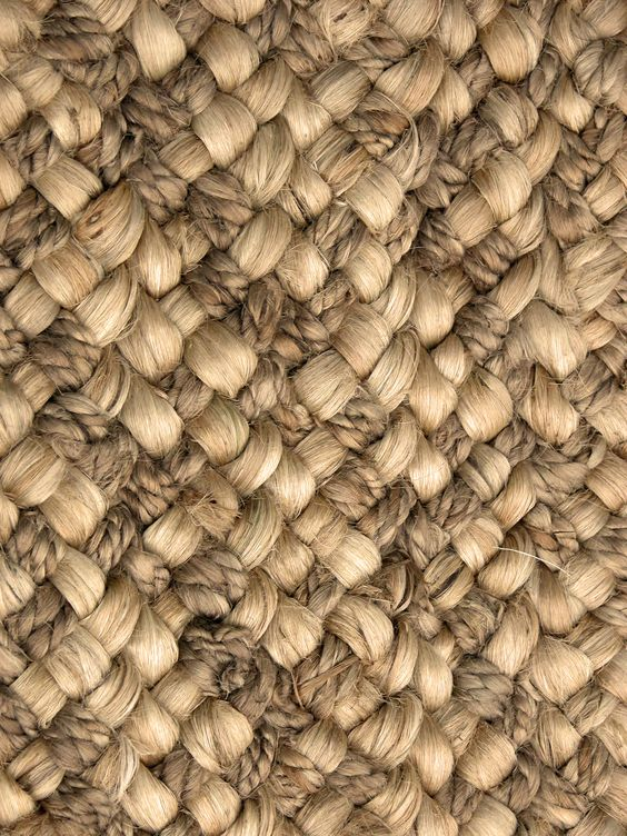 Pattaya in Summer, hand braided construction similar to our Bora Bora rug. This style is intertwined with a more tightly braided jute yarn to add depth to the texture and pattern.