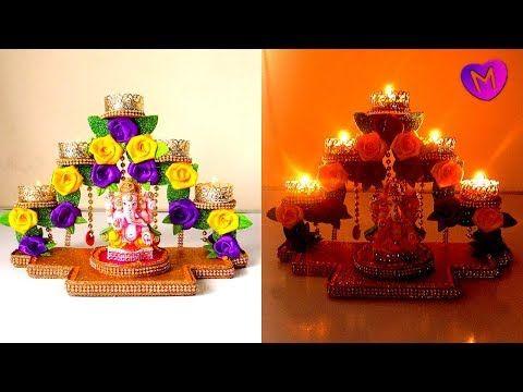 Diya Stand Decoration For Diwali Diya Stand For Diwali Room Decoration Diwali Decoration Ideas Youtube Dekor Ide Kerajinan Diwali
