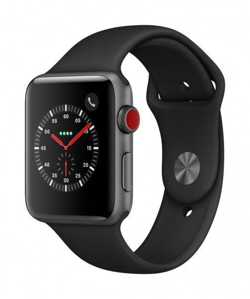Apple Watch Series 3 Cellular Aluminium Space Grey 42mm Mit Sportarmband Schwarz Apple Watch Kaufen Apfeluhr Sport Armband