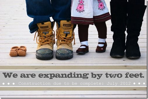 Precious pregnancy announcement! Love it!!  Not that I need it right now.  Just thinkin' ahead.  Promise.