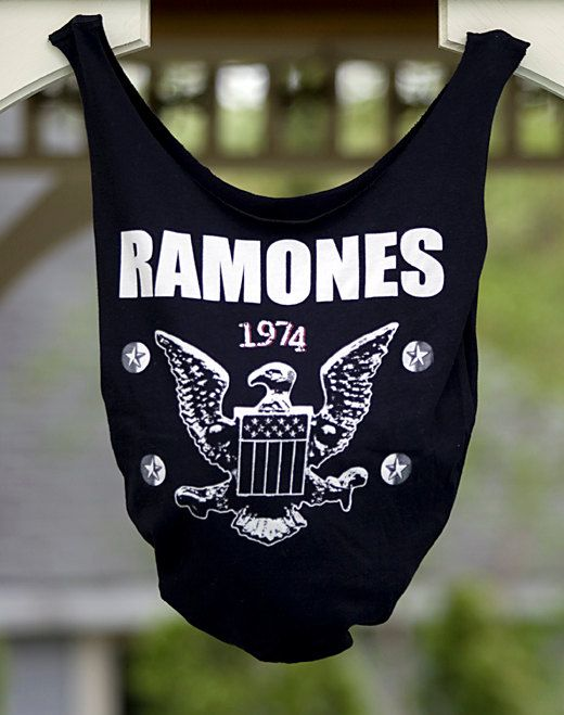 Tshirt tote bag  Upcycled Ramones Band Bag by RecycleThyme on Etsy, $7.00