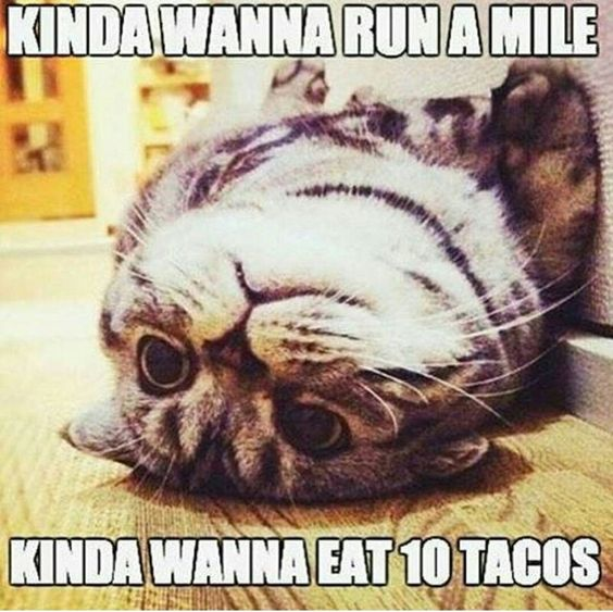 How about running 10 miles to GET tacos?