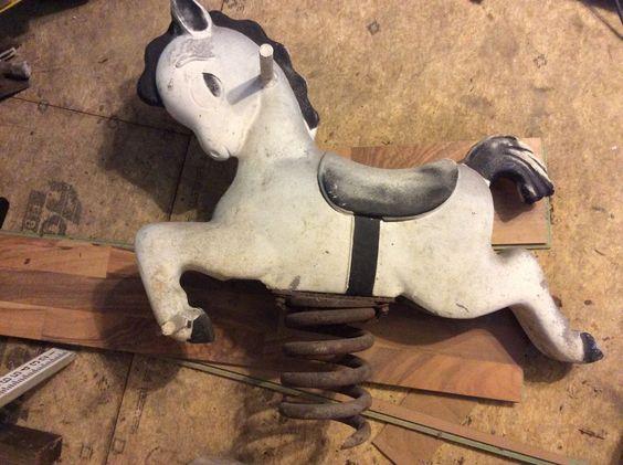 Vintage Playground Riding Horse | eBay