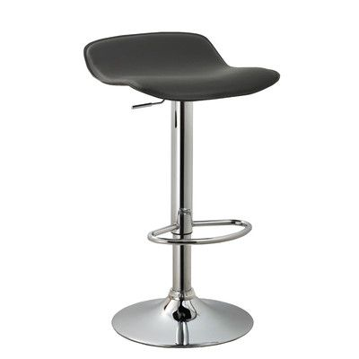 AC Pacific Backless Adjustable Height Swivel Bar Stool, Set of 2 Upholstery: