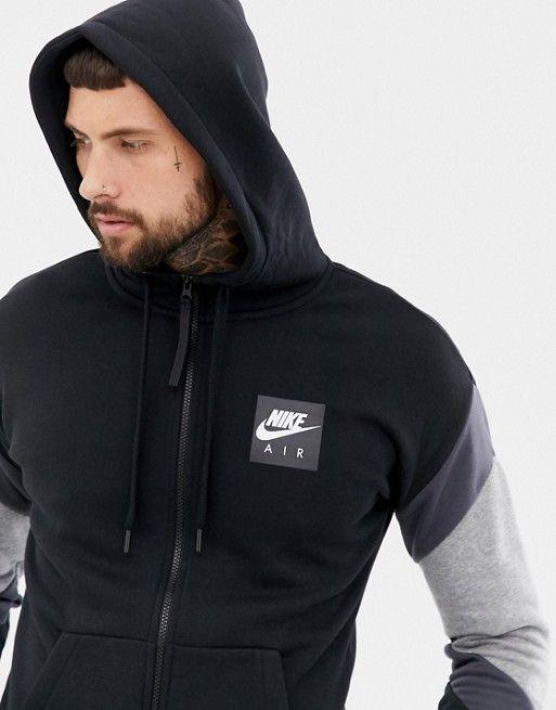 Nike | Nike Air Zip Through Hoodie In Black 928629 010