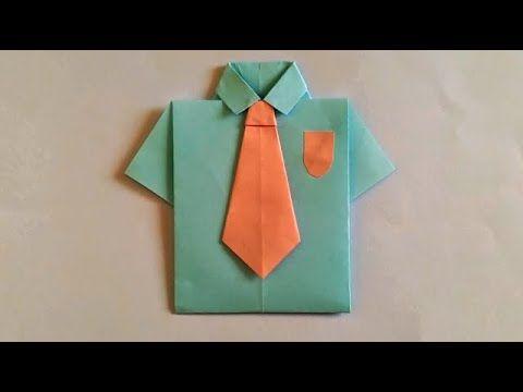 صنع أشياء بالورق صنع قميص وربطة عنق بالورق الملون How To Make Paper Tableware Napkins