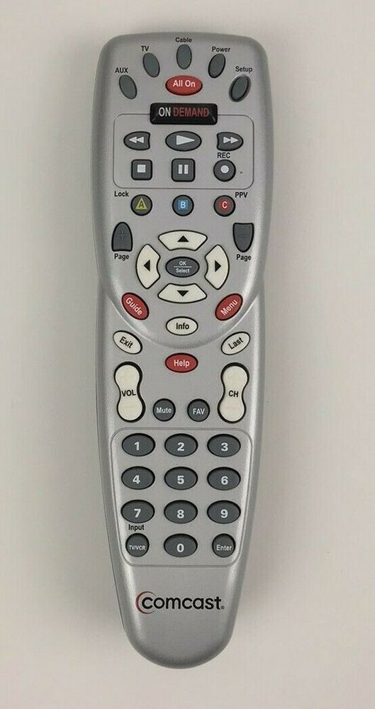 Genuine Comcast Urc 1057bg1 Cable Box On Demand Remote Control Silver Clicker Tv Comcast Remote Control Cable Box Remote