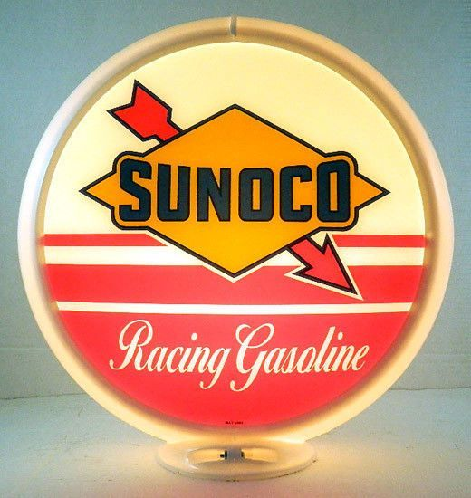 Sunoco Racing Gasoline gas pump globe G-261
