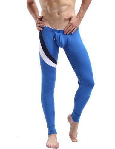 Mens Long John Thermal Underwear Pants Blue 6025   Men's Underwear ...