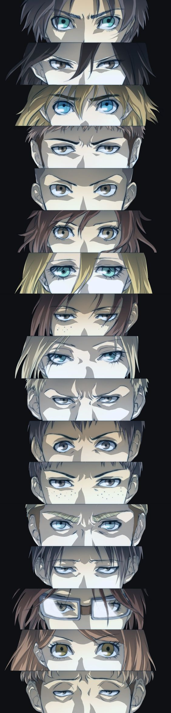 """Eyes of """"Attack on Titan"""" ~~ Another mega-hit that I hadn't watched. Now I've started watching it and I am becoming OBSESSED!"""