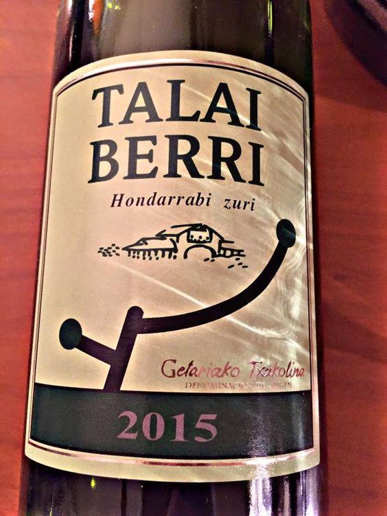 El Alma del Vino.: Talai Berri Txakolina Hondarribi Zuri 2015.
