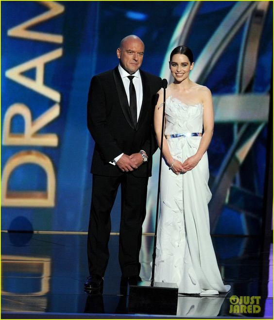 Emilia Clarke: Emmys 2013 with Breaking Bad's Dean Norris!