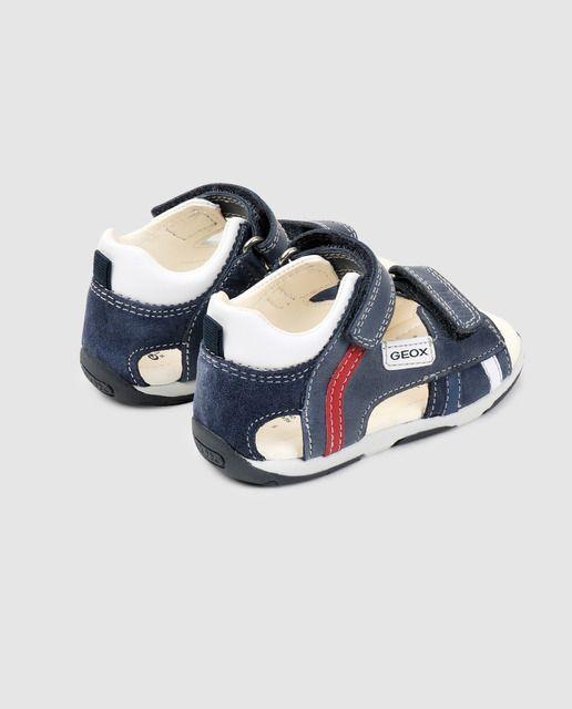 Geox Sandalias De Bebé Niño Azul Marino Con Velcro Sandalias Para Bebe Azul Marino Niño Bebé