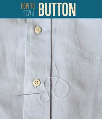 How to Sew a Button   Easy Sewing Tutorials
