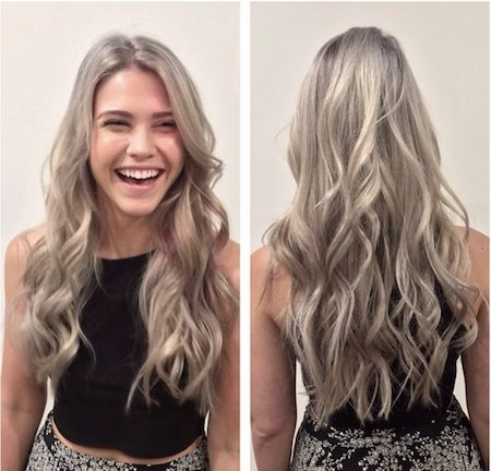cheveux blond gris - Coloration Blond Gris