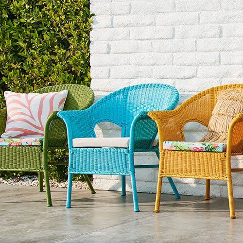 Casbah Soft Blue Stacking Chair Pier