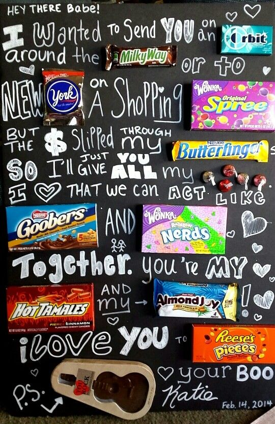Valentines day giant candy card for boyfriend 3 he loved it – Big Valentine Card