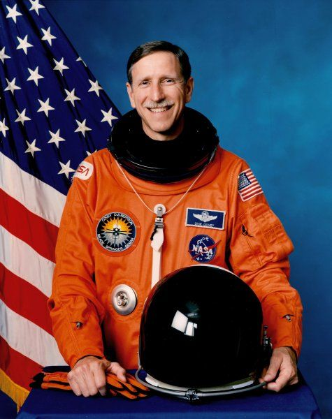 Richard Oswalt Covey (born August 1, 1946) is a retired U.S. Air Force officer & former NASA astronaut. On his first mission, he was the pilot on the five-man crew of STS-51-I, which launched on August 27, 1985. During this seven-day mission, crew members deployed three communications satellites: the Navy SYNCOM IV-4, the Australian AUSSAT, & American Satellite Company's ASC-1. The crew also performed the successful on-orbit rendezvous & repair of the ailing 15,000 pound SYNCOM IV-3…