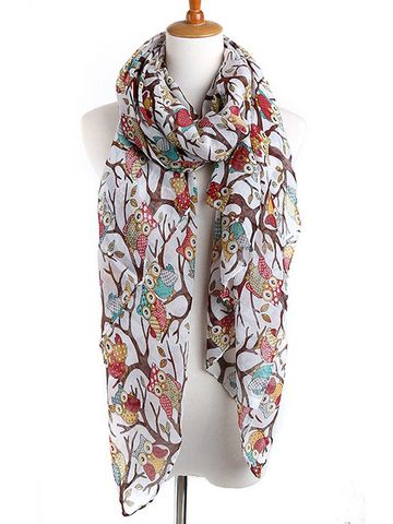 Owl Pattern Thermal Wrap Women Scarf & Scarves - at Jollychic
