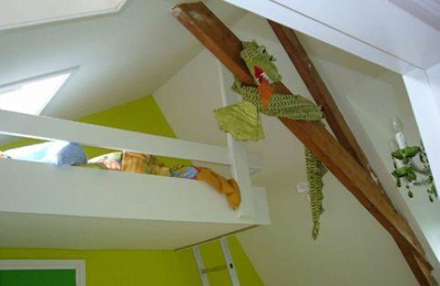Voor de slaapkamer, mooi idee voor onze werkloze zolder  Vide boven ...