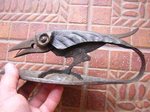 Antique Vintage Victorian Hand Made Arts Crafts Crow Raven Bird Cigar Cutter | eBay
