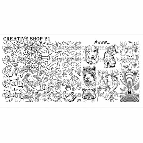 Creative Shop- Stamping Plate- 21