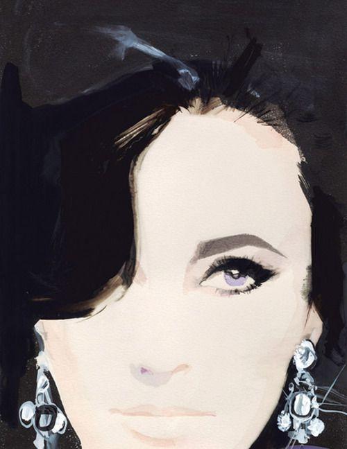 David Downton illustrates fashion