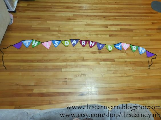 How awesome is this 100% #crochet customizable banner? Use it for #babyshowers #birthdays #holidays #graduations etc and choose your own colors!  www.thisdarndyarn.blogspot.com www.etsy.com/shop/thisdarndyarn