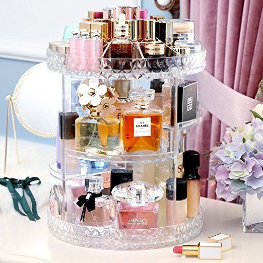 Amazon Com Eloki 360 Rotating Makeup Organizer Diy Detachable
