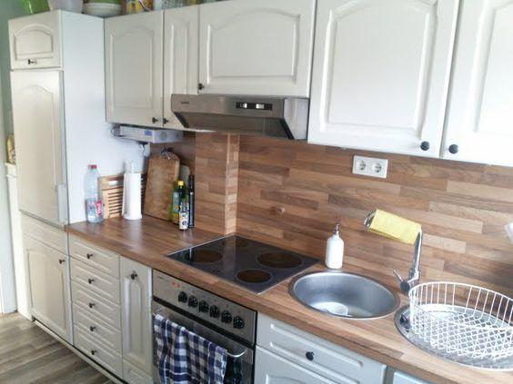 wandfliesen holzoptik küchenrückwand alternative fliesenspiegel - küchenspiegel aus holz