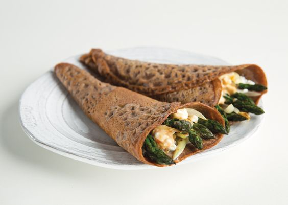 Savory Teff Crepes With Asparagus