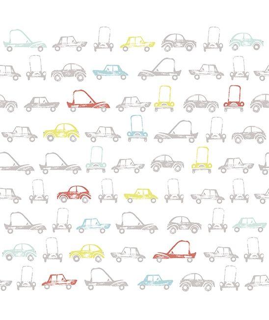Papier peint intiss enfant voitures r tro chambre b b lilipinso kids pinterest vintage - Papier peint enfant vintage ...
