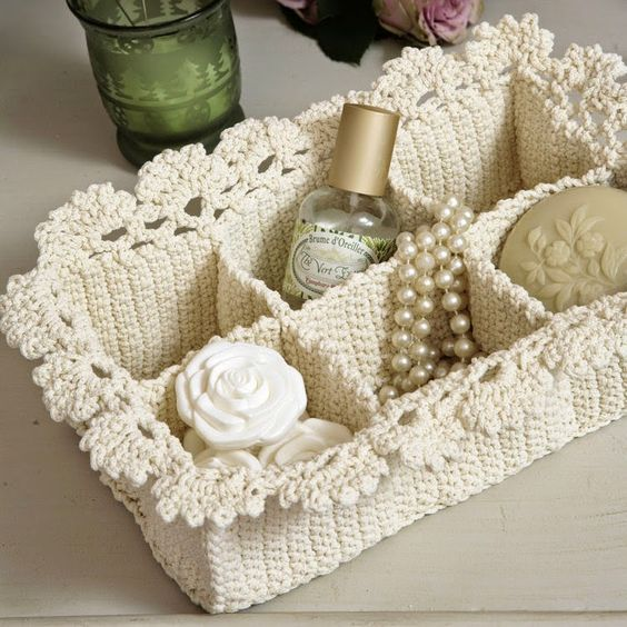 tuto panier crochet salle de bain crochet misc. Black Bedroom Furniture Sets. Home Design Ideas