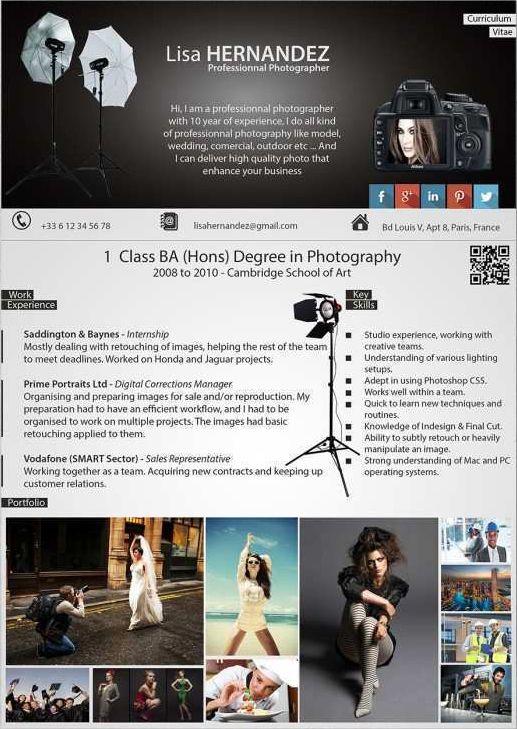 Cv Photographe Professionnel Cv Sur Mesure Moderne Upcvup Photographe Professionnel Photographie Modele Cv
