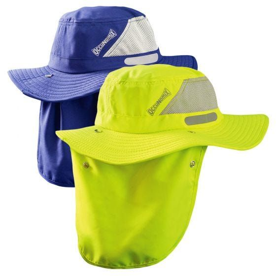 Enhanced Visibility Cooling Ranger Hat W Roll Up Neck Shade In