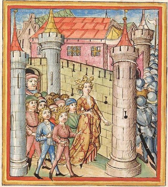 Pontus und Sidonia — Stuttgart (?) - Werkstatt Ludwig Henfflin, um 1475 Cod. Pal. germ. 142 Folio 2v