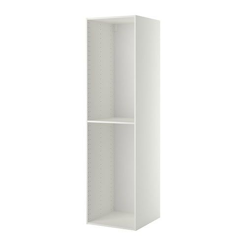METOD white, High cabinet frame