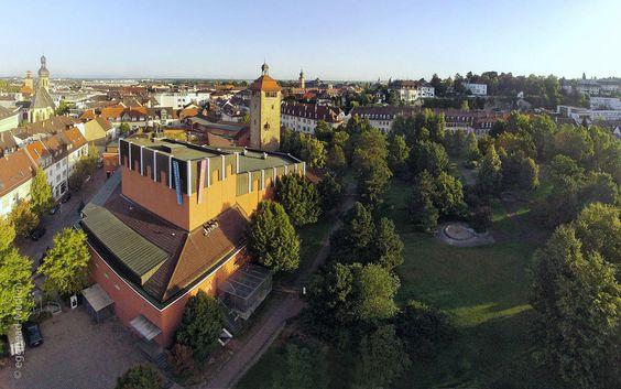 Bruchsal Bergfried und Bürgerzentrum Bürgerpark Luftbild