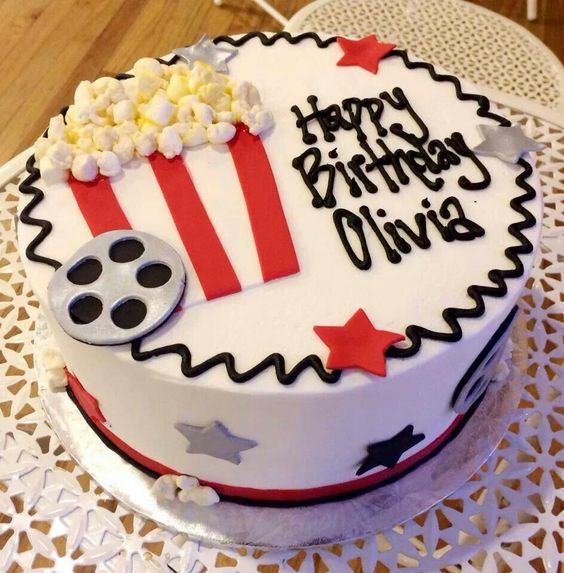 Movie Themed Party  Party Must Haves Pinterest Themed - Movie themed birthday cake