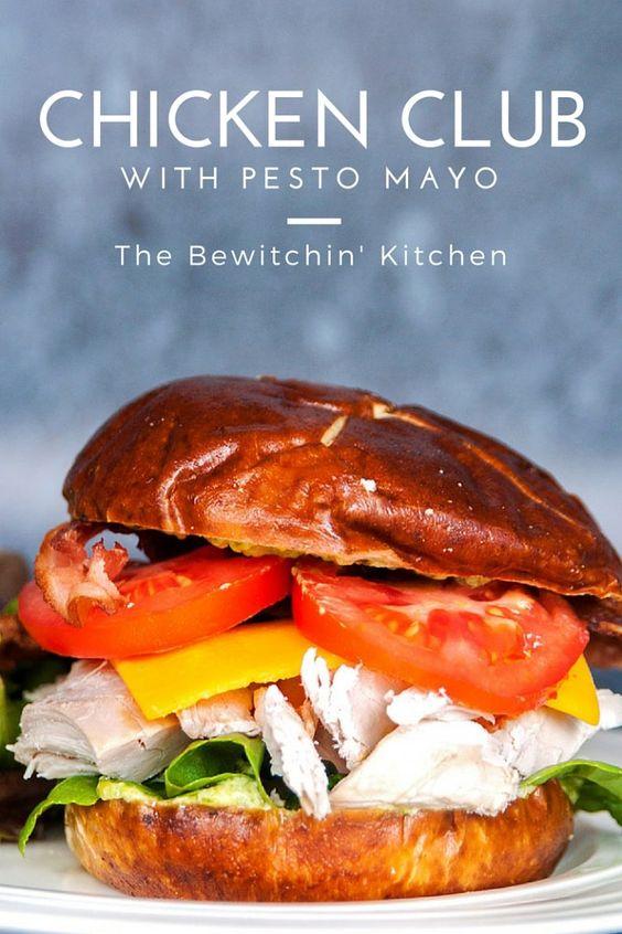 Chicken Club Pretzel Bun Sandwich - This sandwich recipe was inspired ...