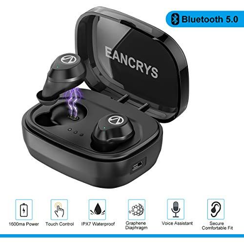 Mini Bluetooth V5.0 Earbud,Stereo Wireless Bluetooth Headphones with Built-in Mic,Invisible Noise Cancelling in-Ear Earphone Car Headset Compatible with iPhone Samsung and Other Android Phones