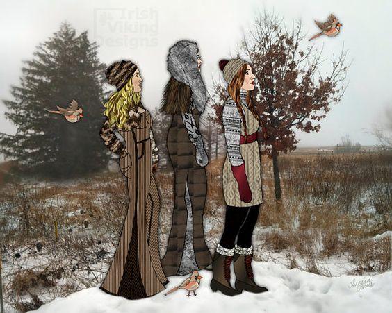 Autumn the Queen of Fall 8x10 art print by IrishVikingDesigns