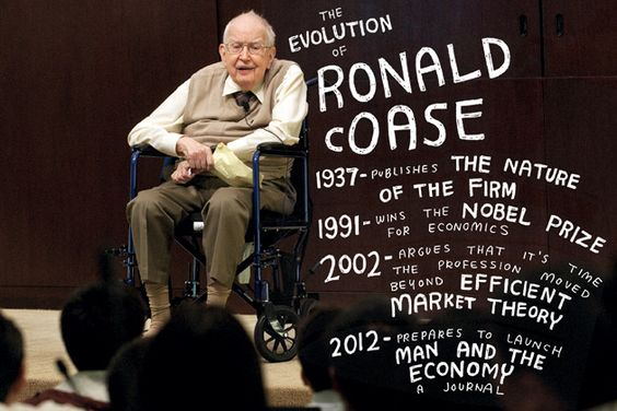 The evolution of Ronald Coase