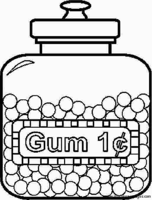 Candy Jar Coloring Page Candy Coloring Pages Coloring Pages