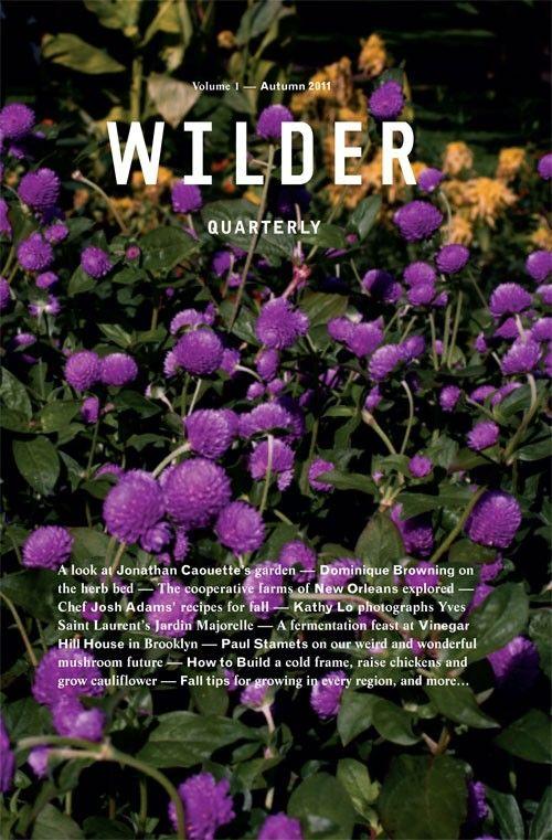Wilder Quarterly, Autumn 2011
