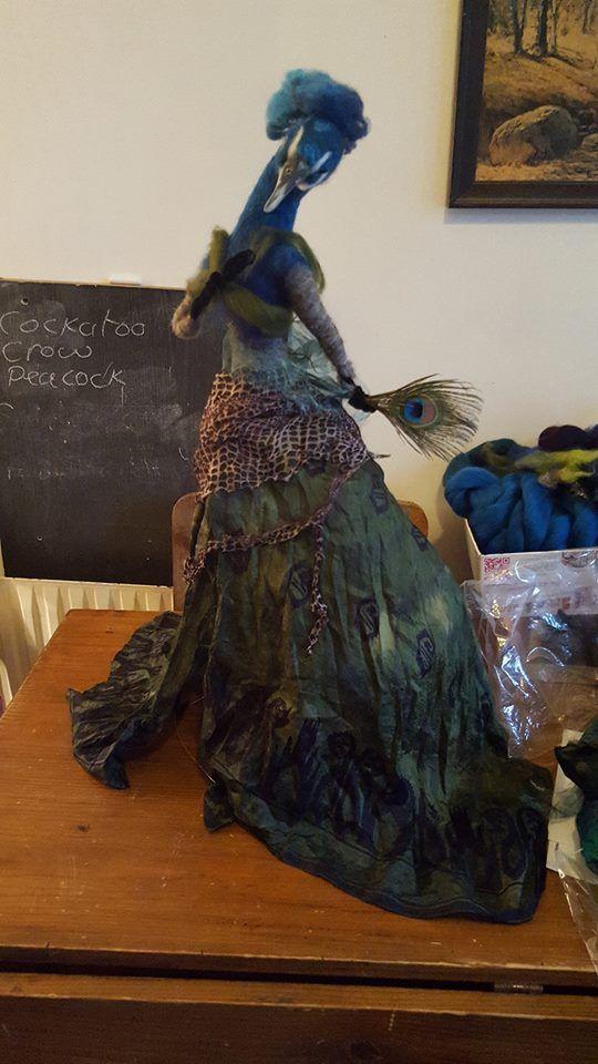 my peacock sculpture work n progress